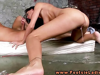 Alluring babe is screwed with big rod and her pussy fucked