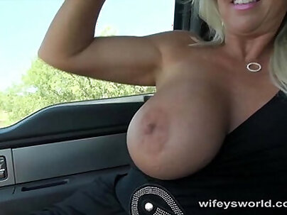 Big tit blonde housewife loves missionary style sex
