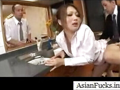 Asian in a Maid Cosplay Takes a Load in Her Mouth, Pussy and Ass - Part 4