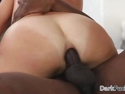 Big black dick vs huge ethnic mom anal