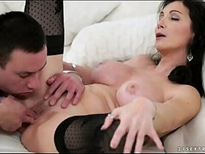 Busty Granny Gets Fucked A Nut