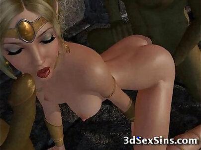 Ogres Gangbang 3D Princesses!