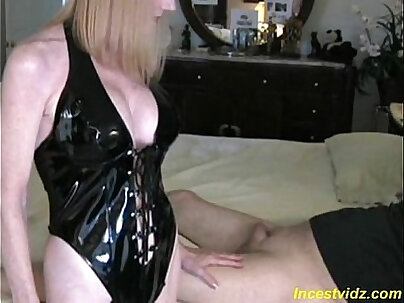Cute angry mommy fucking with son
