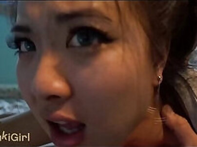 Chinese wife eating thick wildpump and make me cum