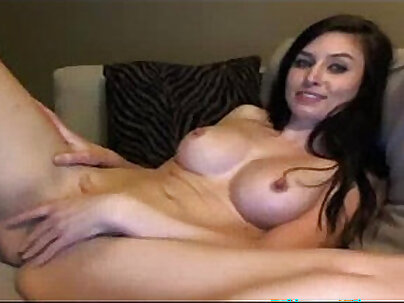 Cute brunette camgirl webcam solo