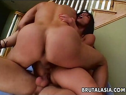 Renae getting her pussy and ass fucked hard by three bigcoons of men