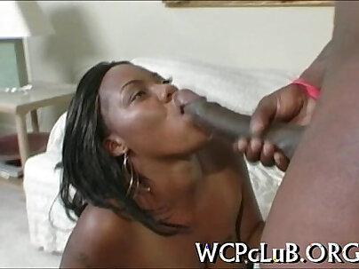 Dark knob in white anal