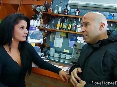 Amateur Latina Chokes On His Big Hard Cock