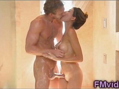 Amazing shower with busty Heather Vahn