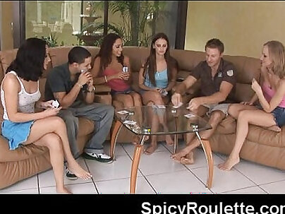 A group of amateurs playing strip poker fucking