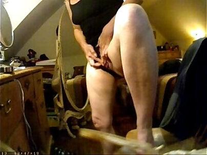 Have a look of huge clit of my mom. Hidden cam