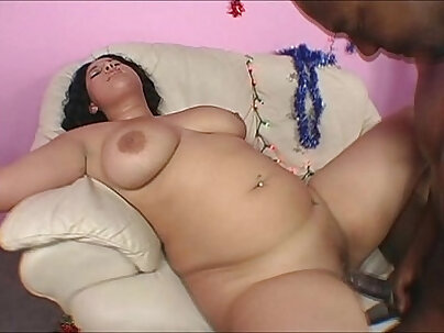 Busty Gets team Fucked By Black Santa Claus