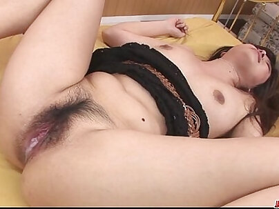 Busty babe fingering her asshole and tasting her pussy