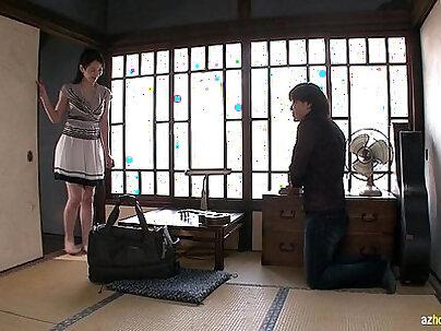 cheating asian cuckolding him in pawn shop