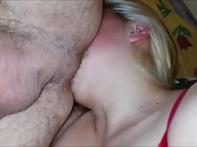 Beautiful hot blonde with fat pussy rimming