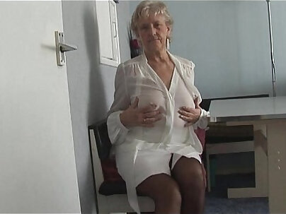 Longhair blonde panty granny has more tight pussy than a princess