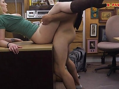 Beautiful blond bitch with got nailed by her associates horny chainsman