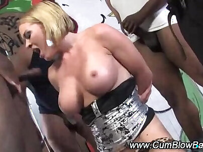Black cock sluts in latex are fisted and pushed in interracial porn