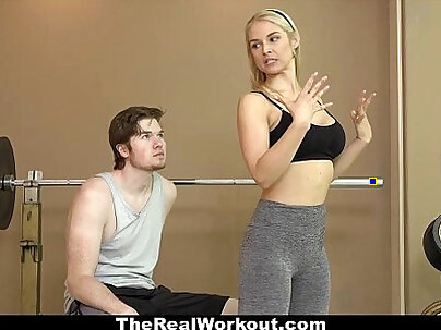 Therealworkout hot milf sucks and fucks client