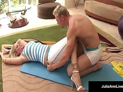 Ardent brunette Julia Ann likes to have a good time