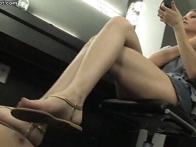 Foot fetish whore Alexandra Super hot twat love to tease and fawl before