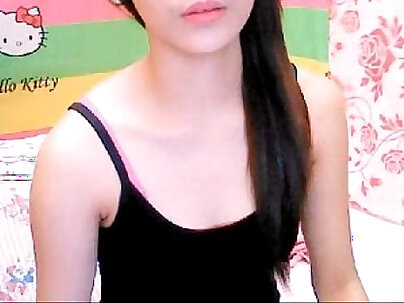 Beautiful Asian teenage girl on cam