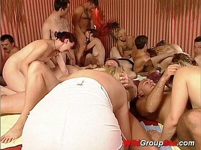 Wild hotties sharing group sex