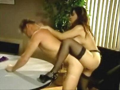 Algyre, Leone Krupak and Ama Kendra in femdom strapon clip