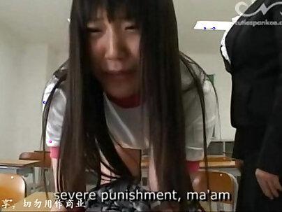 A shy Japanese teen fucked on waitlist by her horny older teacher