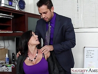 Office brunette banged by taxi driver