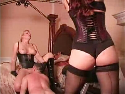 Femdom Mistress Changing Pussy With Cocks