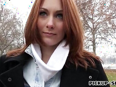 Redhead Czech girl Alice March gets banged for some cash