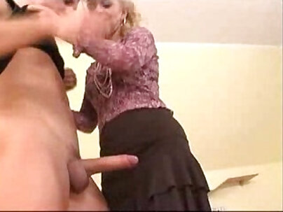 Cute mature mother likes anal play