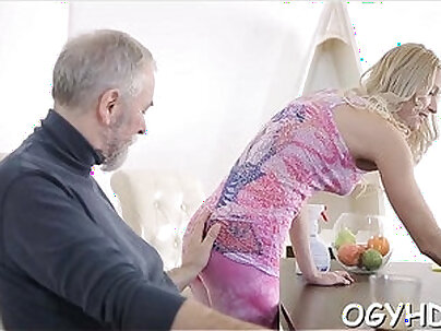 Crazy old guy fucks young girl
