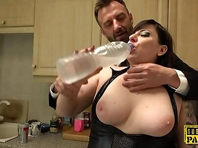 Chubby amateur chick getting caught in the act