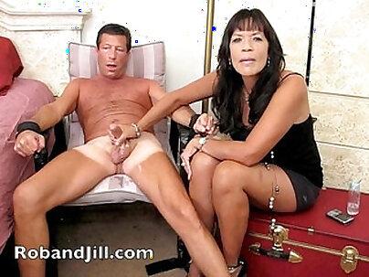 CFNM handjob before orgasm