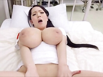 Crazy-Tasty Nurse exposes her nipples and tight feet and gets stinky