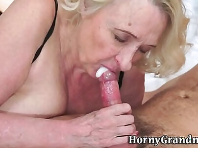 Busty Granny Giving Bruannas Blowjob Some Time