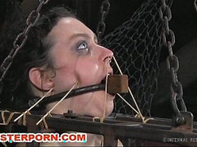 BDSM XXX Slave in intense torture with strapon