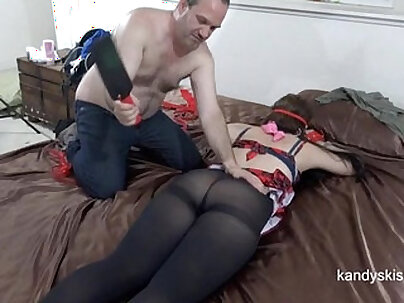 Pantyhose Ass Smacked (50 Shades of Dr. Grey)