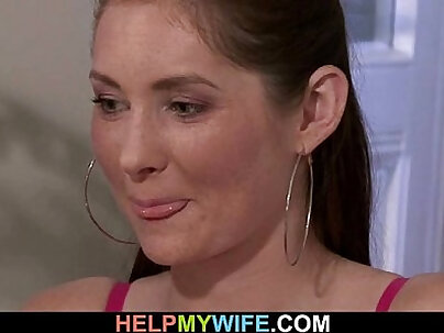 Husband watches as his hot wife is cuckolding on him