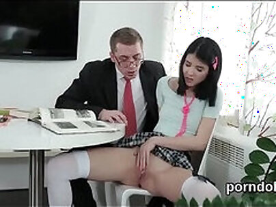 Oxy schoolgirls and one guy gets nailed by their teacher