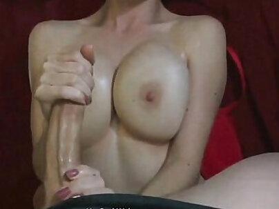 Monster Cock Jizz on GF's Huge Tits - sexvideo.cool