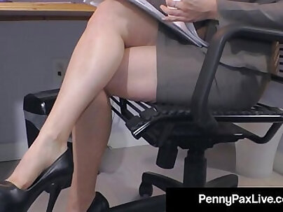 Amazing gals Sunny Leone and Penny Pax at the office sex scene