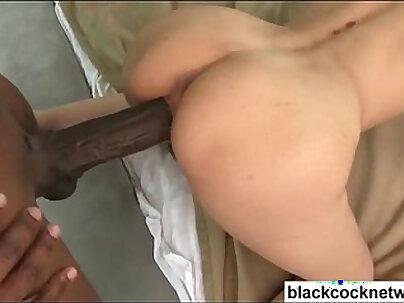 Bruccial long Asian pornstar gets raided by some big black cock
