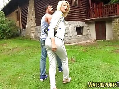 Couple ritually slutty in dirty kinky fetish show