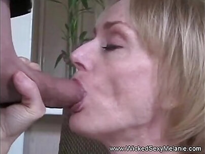 School girl throats as she tugs hard cock