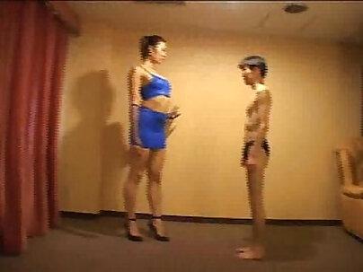 Blouse wrestling of japanese girls