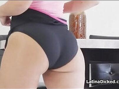 Latina girlfriend fucks older man