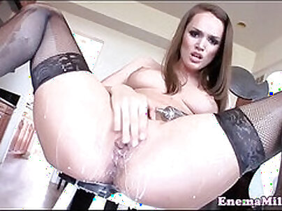 Babe In Stockings Is Squirting In Sex Vision